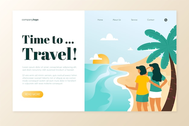 Belle page de destination