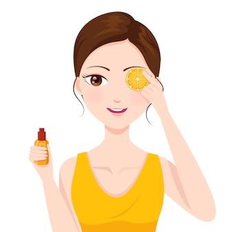 Belle peau avec de la vitamine c