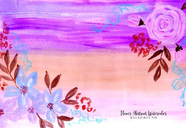 Une belle peinture de fond aquarelle abstraite avec composition florale