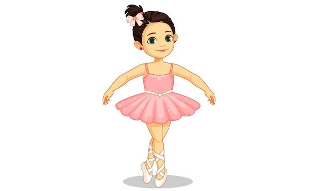 Belle petite ballerine en ballet