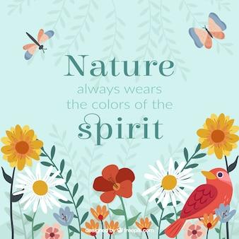 Belle phrase avec des fleurs