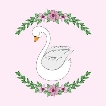 Belle princesse cygne illustrée