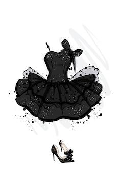 Belle robe et chaussures élégantes