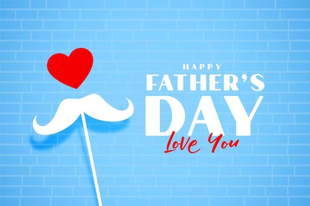 Belle salutation d'amour pour la fête des pères