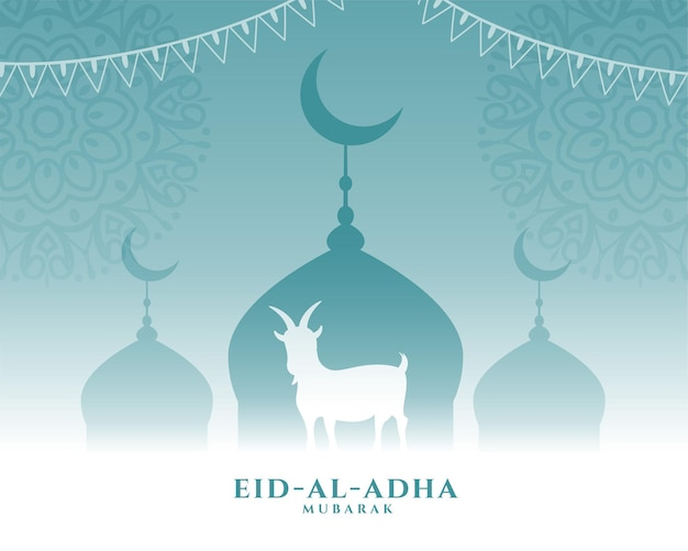 Belle salutation pour le festival eid al adha bakrid
