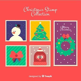 Belle série de timbres de noël