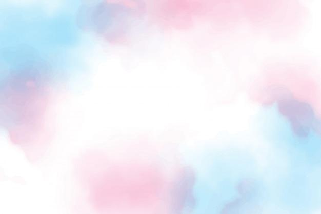 Belle sucrerie de coton doux crépuscule ciel aquarelle fond eps10 vecteurs illustration