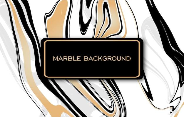 Belle texture de marbre doré et noir