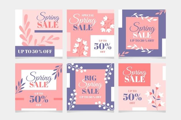 Belle vente de printemps instagram posts
