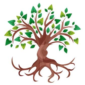 Belle vie d'arbre dessiné à la main