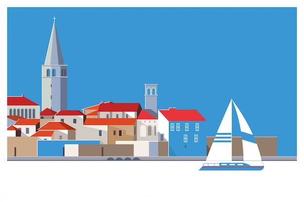 Belle vieille ville romantique de porec