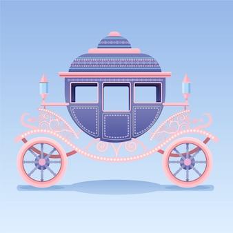 Belle voiture de cendrillon de conte de fées