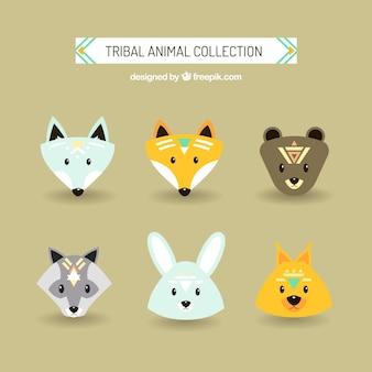 Belles animaux ethniques avatars