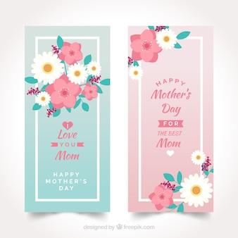 Belles bannières de la fête des mères