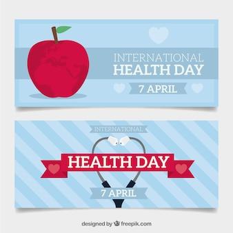 Belles bannières de jour de santé