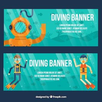 Belles bannières plongée sport