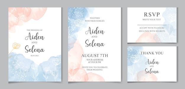 Belles cartes d'invitation de mariage