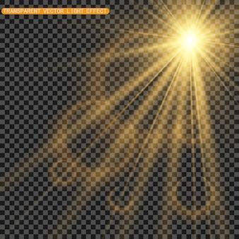 De belles étincelles brillent d'une lumière spéciale. scintille sur un fond transparent. modèle abstrait de noël. une belle illustration pour la carte postale. l'arrière-plan de l'image. luminaires.