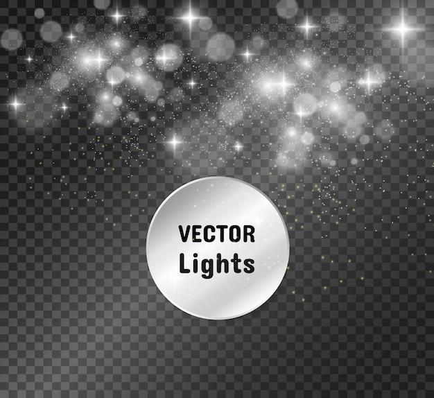 De belles étincelles brillent avec une lumière spéciale. scintille. modèle abstrait de noël.