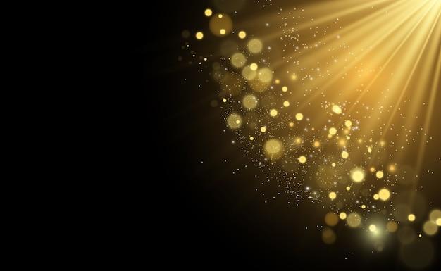 De belles étincelles brillent avec une lumière spéciale. scintille.
