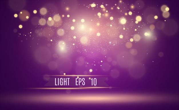 De belles étincelles brillent avec une lumière spéciale.