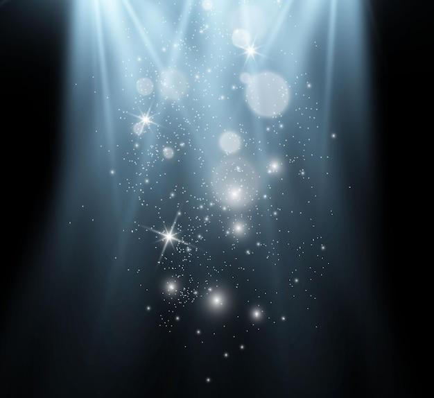 De belles étincelles brillent avec une lumière spéciale