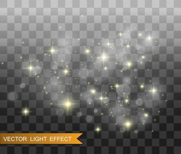 De belles étincelles brillent d'une lumière spéciale.