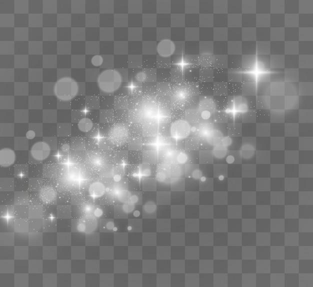 De belles étincelles brillent avec des lumières spéciales.