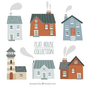 Belles façades de collecte de maisons