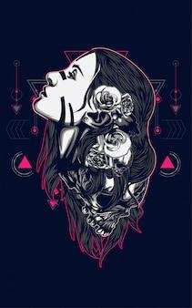 Belles femmes avec tatouage