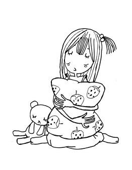 Belles filles mignonnes dessinés à la main heureuse jeune fille adolescente dessin animé doodle femmes vecteur isolé