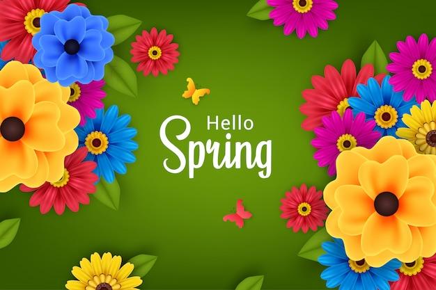 Belles fleurs au printemps