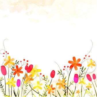 Belles fleurs colorées sur fond abstrait et espace pour votre texte.