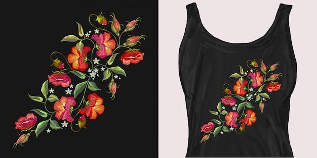 Belles fleurs de coquelicots rouges