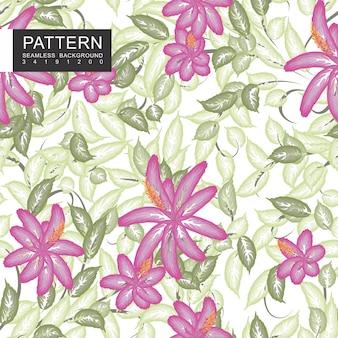 Belles fleurs et feuilles transparente motif floral