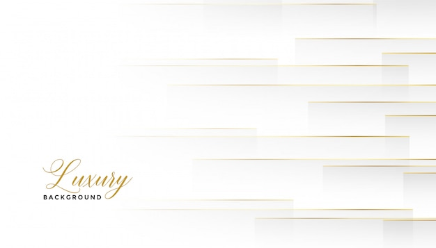 Belles lignes horizontales dorées fond blanc