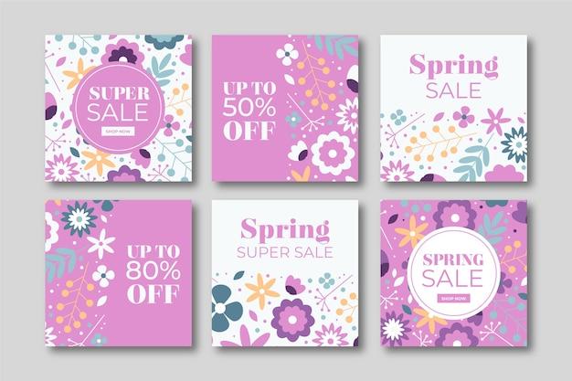 Belles publications instagram de vente de printemps