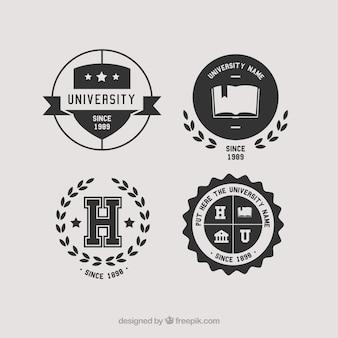 Belles rondes logos pour le collège