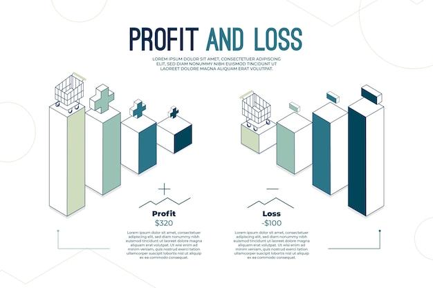 Bénéfice et perte - concept infographique