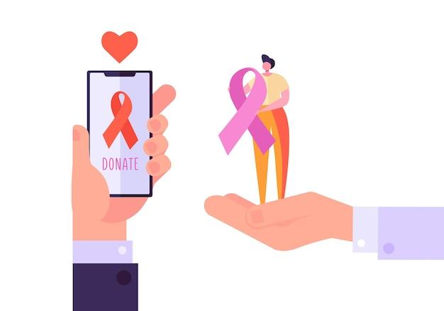 Bénévolat en ligne charity aids support