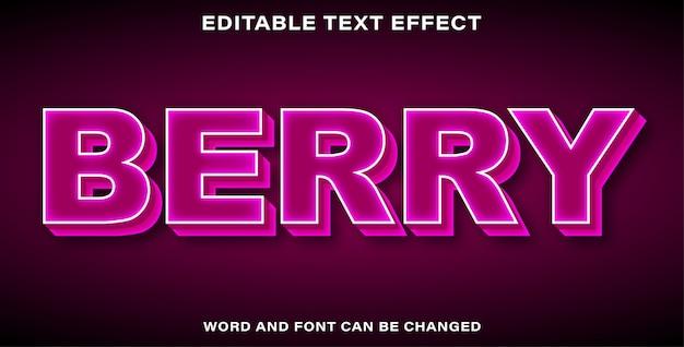 Berry d'effet de texte modifiable