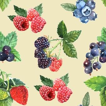 Berry modèle sans couture avec cassis fraise framboise