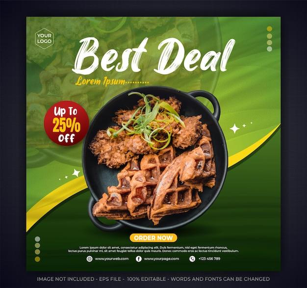 Best deal salad promotion des médias sociaux modèle de bannière de publication instagram