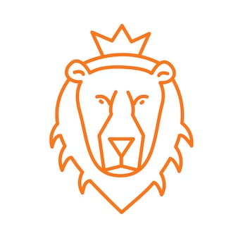 Bête de lion de logo de contour