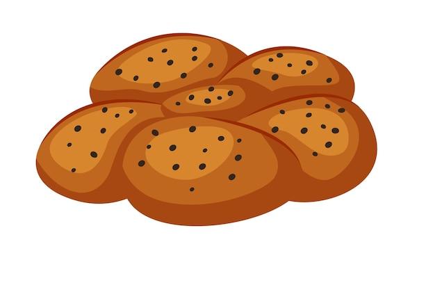 Beurre ou pain de gâteau avec des graines de pavot d'isolement sur le blanc