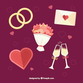 Beutiful éléments de mariage