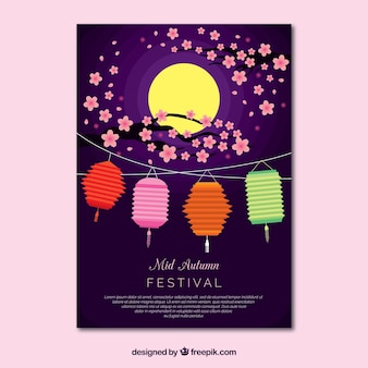 Beutiful mid autumn festival design