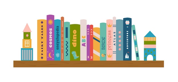 Bibliothèque avec livres pour enfants littérature pour enfants lecture pour enfants