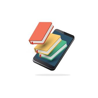 Bibliothèque mobile en ligne isomatrique