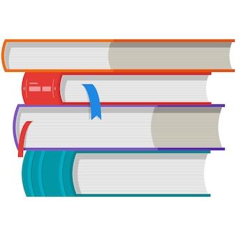 Bibliothèque de pile de vecteur de livre et icône d'éducation scolaire